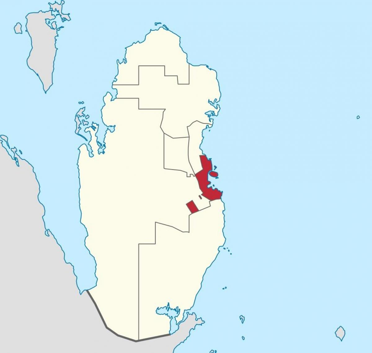 Doha Qatar Location On World Map Map Of Doha Qatar Location On