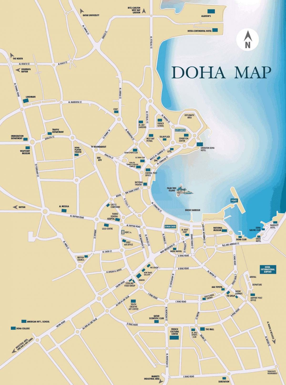 Map of doha qatar