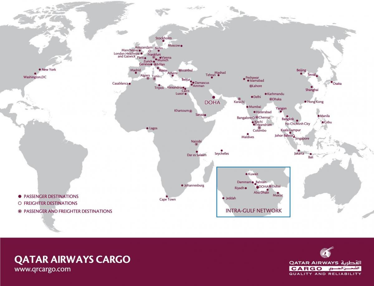 qatar airways network map