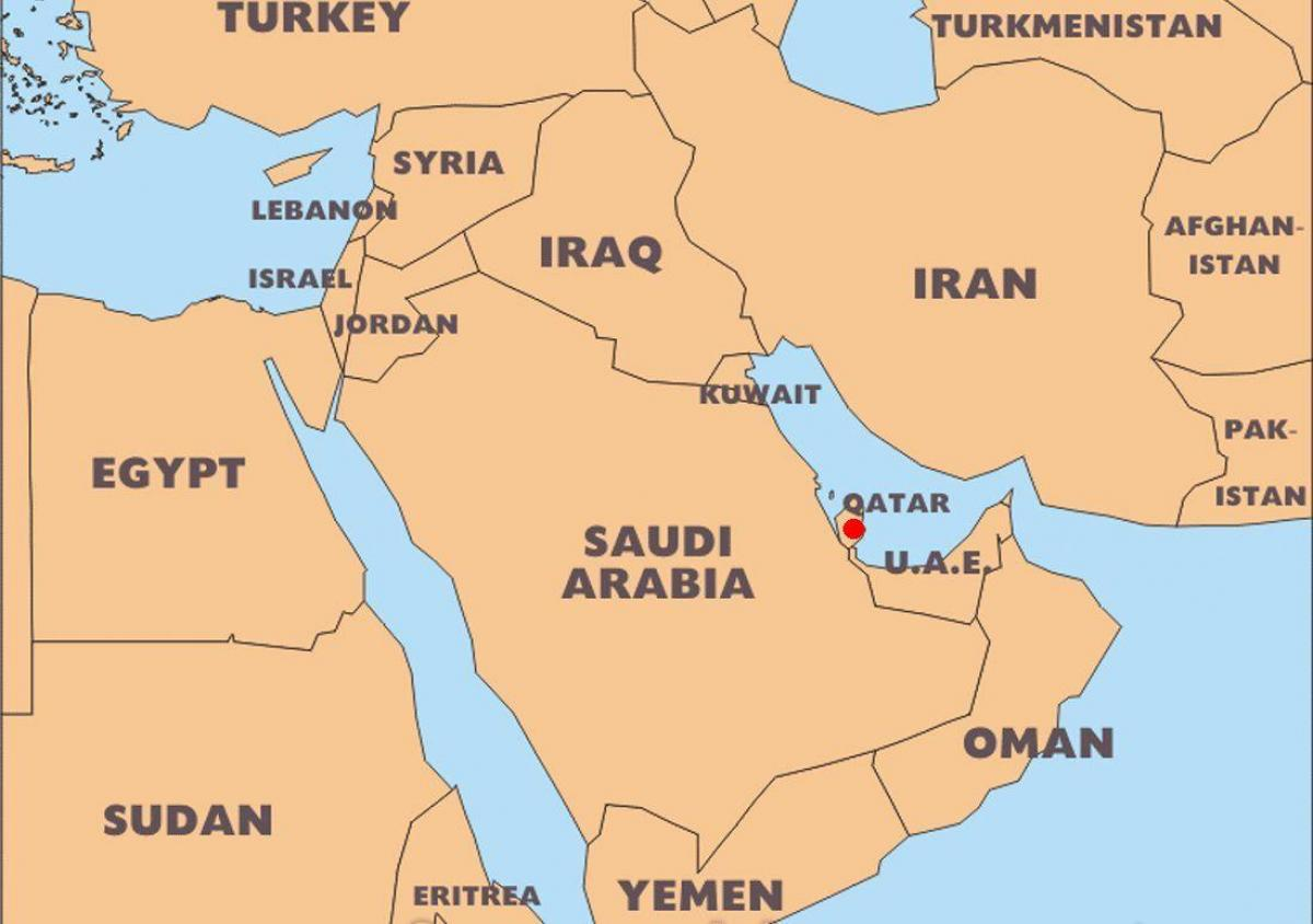 Where Qatar Is Located In World Map.Qatar Map World Location World Map Qatar Location Western Asia