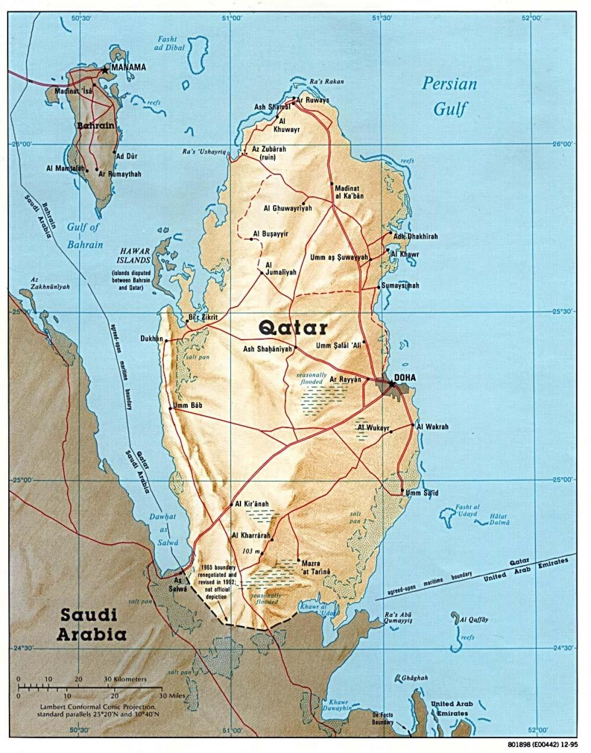 qatar full map