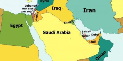 Map of qatar country - Map of qatar and surrounding countries ... Qatar Country Map on