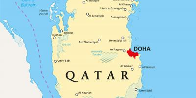 Qatar map - Maps Qatar (Western Asia - Asia) on