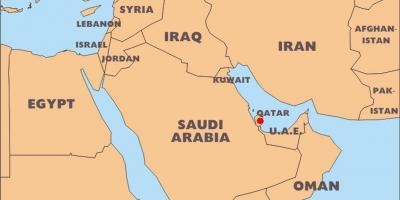 Qatar map maps qatar western asia asia qatar country in world map gumiabroncs Gallery