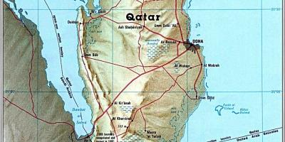 Map of qatar road